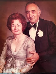 Mary Acerra, 86, and Ferdinando Acerra, 89, at their 25th anniversary in 1976. The couple died within hours of each other Monday after celebrating their 65th anniversary.