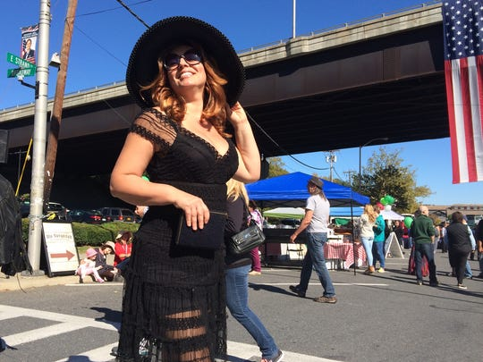 Cristiana Circeano attended the Ulster County Italian American Foundation's Italian Festival Sunday dressed as actress Sophia Loren.