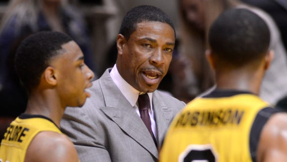 Alabama State's men's basketball coach Lewis Jackson