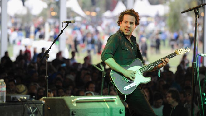 Taylor Goldsmith of Dawes performs onstage at the 2012 Coachella Valley Music & Arts Festival.  The band returns to Delaware this weekend for a show at The Grand.