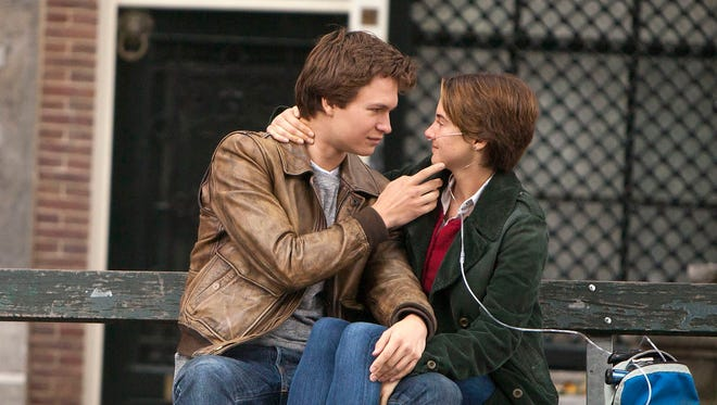 "Ansel Elgort (left) and Shailene Woodley star in ""A Fault In Our Stars."""