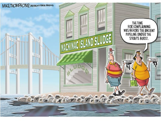 Aging pipeline beneath the Straits of Mackinac