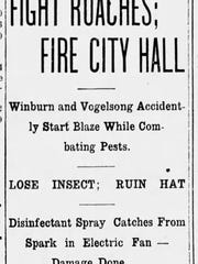 Headlines in The Richmond Item from 1913.