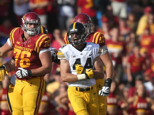 Iowa linebacker Ben Niemann has blossomed into a top defender despite being lightly recruited.