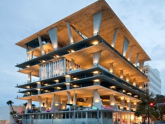 An example of a parking garage in Miami that was designed
