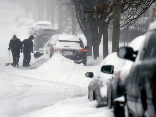 Paul and Paola Nores spent an hour digging out their