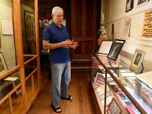 Bob Borders, co-curator of the Joseph Jefferson exhibit