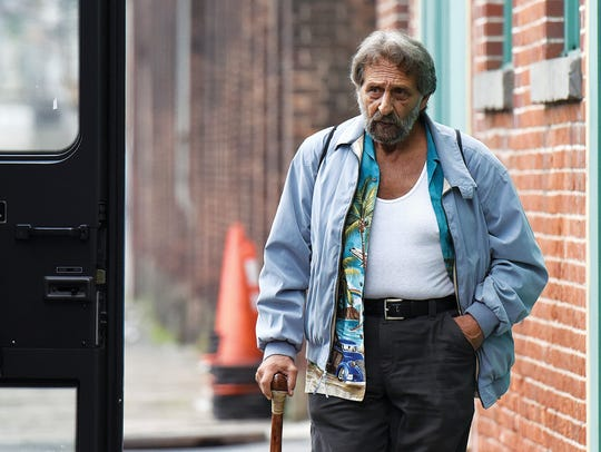 Actor Al Pacino during filming outside of NJCDC on