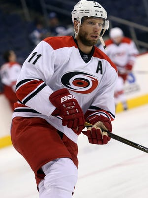 Jordan Staal has a concussion, the Hurricanes announced on Monday.