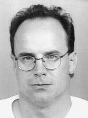 Mug shot of ex-Colt Quarterback Art Schlichter.
