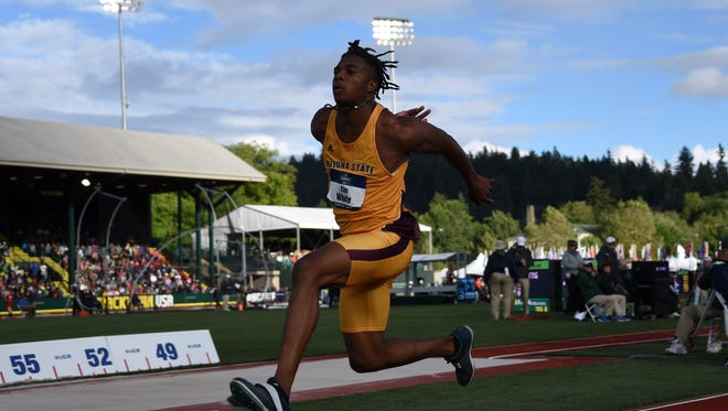 ASU's Tim White jumped a personal record 54 feet, 4 1/2 inches for fourth in triple jump at the NCAA Outdoor Championships. He hopes to compete at the U.S. Olympic Trials in early July.