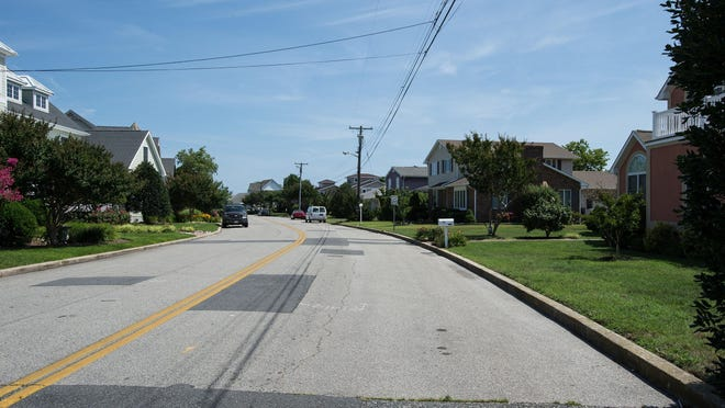 A view of Teal Drive on Mallard Island in Ocean City.