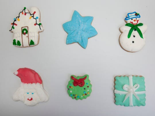 Decorative cookies from Cravings Fine Desserts in Allenhurst.