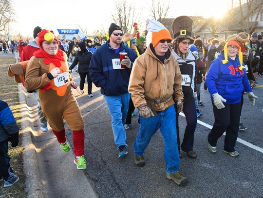 Runners set off at their own pace during the Bernick's