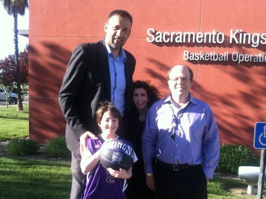 The Dworkin family, including son Spencer, a few years ago with former NBA star Vlade Divac.