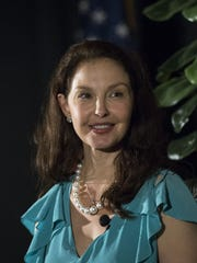 Ashley Judd speaks after receiving the Sandra Day O'Connor Lifetime Achievement Award on March 26, 2018, during the Arizona Foundation for Women's 2018 luncheon at the Arizona Biltmore, 2400 E Missouri Ave., Phoenix.