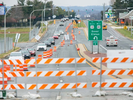 Work on the Del. 141 bridge deck over U.S. 13, near New Castle, is not expected to be complete until January.