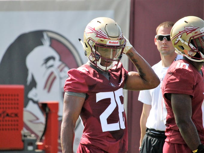 FSU CB Asante Samuel Jr. during the third practice