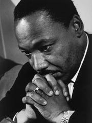 Dr. Martin Luther King Jr. in this 1968 photo at the
