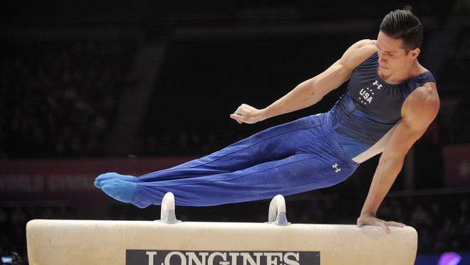 Alex Naddour of Queen Creek was the top American on pommel horse Monday at the World Gymnastics Championships in Scotland.