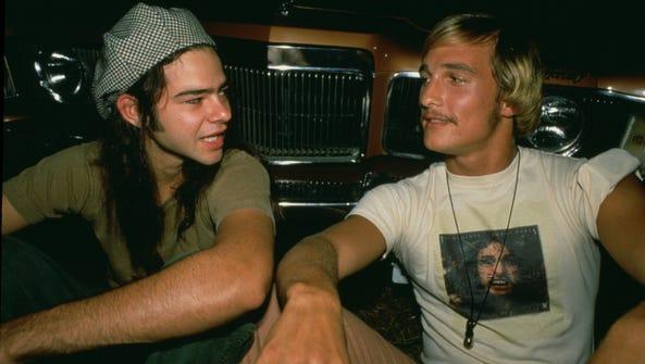 Rory Cochrane (left, as Slater) and Matthew McConaughey