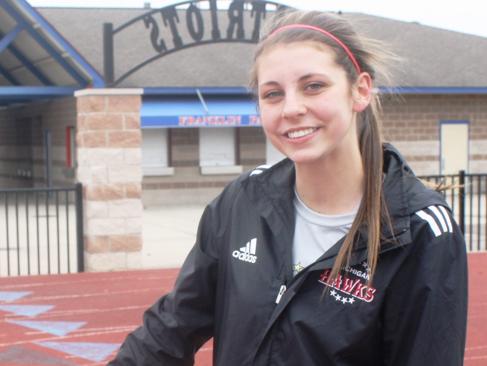 Franklin senior soccer player Bella Yardley has reason to smile after overcoming a serious injury that required surgery and sidelined her for close to six months.