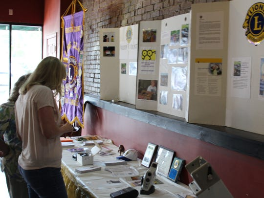 Some visitors learned about the Lions Club and their