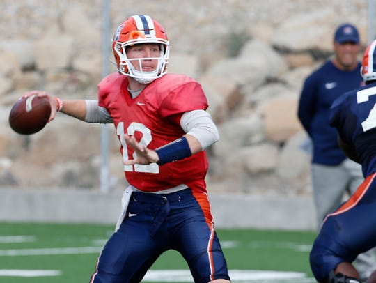 "UTEP quarterback Ryan Metz says, ""Play every snap like"