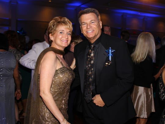 Ball Chairs Brenda and Rick Brown on the dance floor enjoying the band.