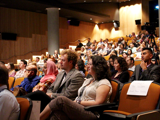 The crowd at TEDxASU in 2016.