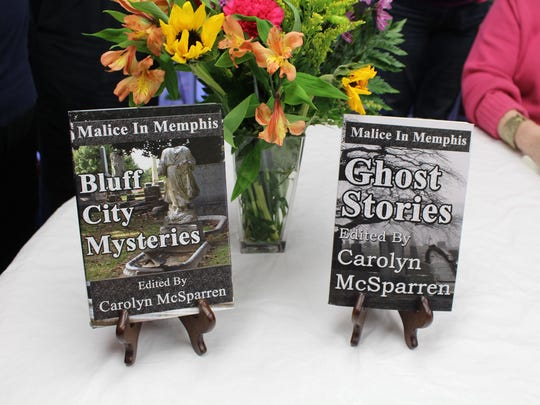 """Malice in Memphis, a local mystery writers group, gathered at Book Stop Plus in Bartlett, Saturday, Feb. 25, for book signings of their first two books of the Malice in Memphis book series, """"Bluff City Mysteries,"""" and """"Ghost Stories."""""""
