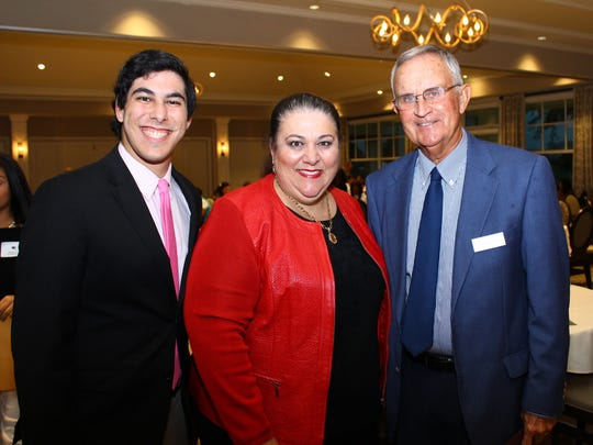 Jason Randall and Linda Zell Randall with the Founders Fund Board Chair, Rob McNaghten.