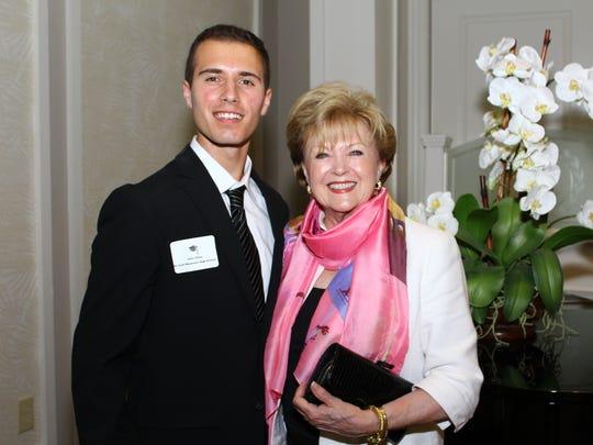 John Zizzo with Founders Fund Board member, Maureen O'Gorman.