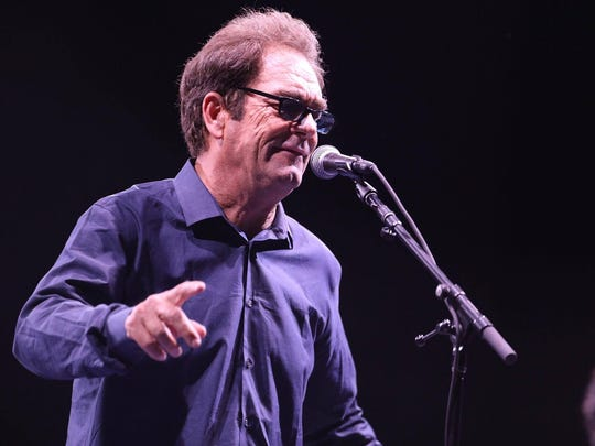 Huey Lewis performs during a Beatles tribute at Lost Lake Festival Saturday, Oct. 21, 2017.