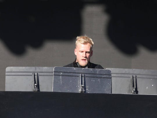 Snakehips performs at the Lost Lake Festival in Phoenix,