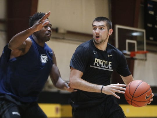 Kelan Martin and Dakota Mathias worked out together