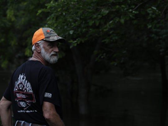 Former Rock Valley fire chief John Wallenburg monitors