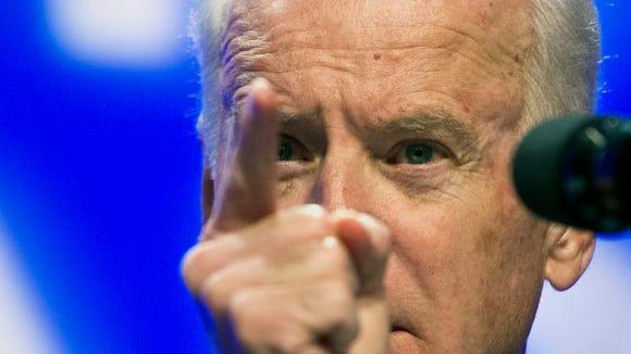 Joe Biden at a UAW meeting.