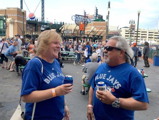 Catharine and Greg Winkler from Belle River, Ontario,