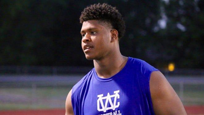 Warren County High School offensive lineman K'Rojhn Calbert is a 2017 Tennessee football signee.