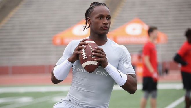 Quarterback Joe Milton has a strong arm but trouble with accuracy.