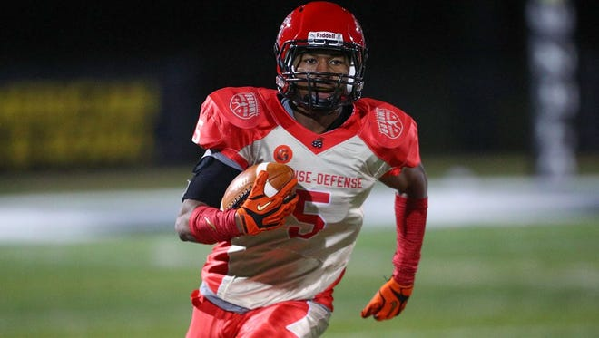 Colorado State signee Nikko Hall played both receiver and safety at Calabasas High School.
