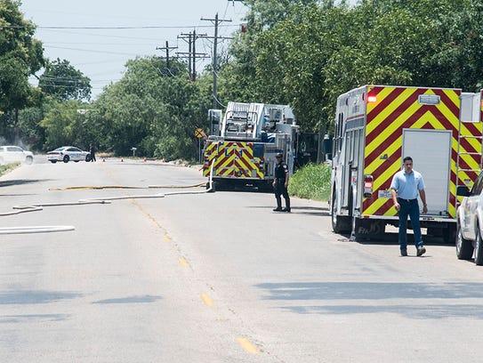 San Angelo firefighters respond to a grass fire near