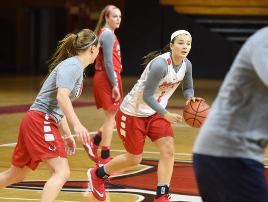 Marist women's basketball practice