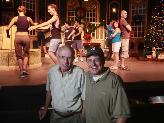 Father and son Tom Prather (left) and Will Prather at Broadway Palm in 2011