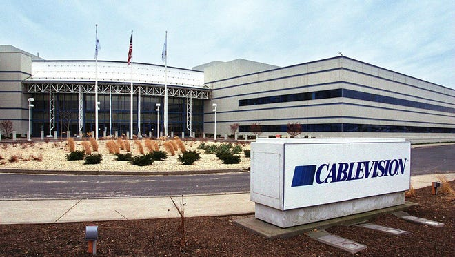The Cablevision headquarters is shown in Bethpage, N.Y.
