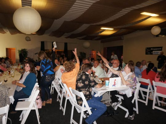 The excitement during the live auction.