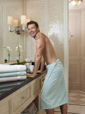 Scott Foley of ABC's 'Scandal' poses for a new Charisma ad campaign.