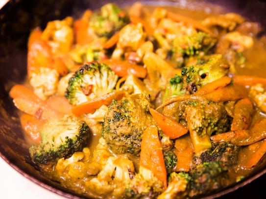 Vegetable curry at the Avante Garde Indian pop-up at