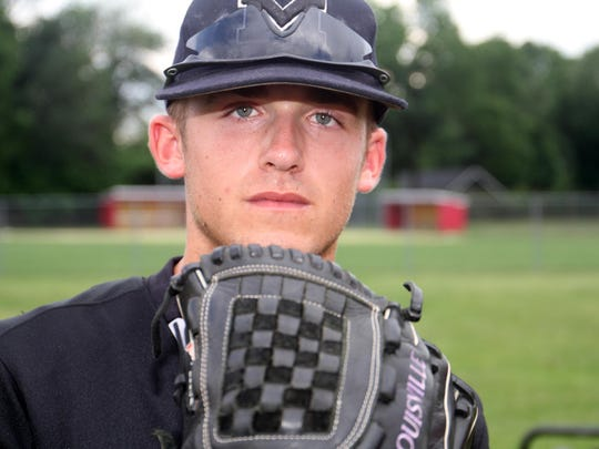 Home News Tribune All-area baseball player Eric Heatter of Monroe, Monday, June 15, 2015, in Edison, NJ.